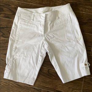 Cache White Bermuda Shorts